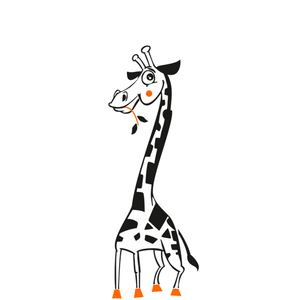 HAPPY GIRAFFE KIDS ROOM Sizes Reusable Stencil Animal Modern Style 'Giraffe'