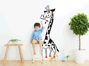 HAPPY GIRAFFE KIDS ROOM Big & Small Sizes Colour Wall Sticker Animal Modern Style 'Giraffe'