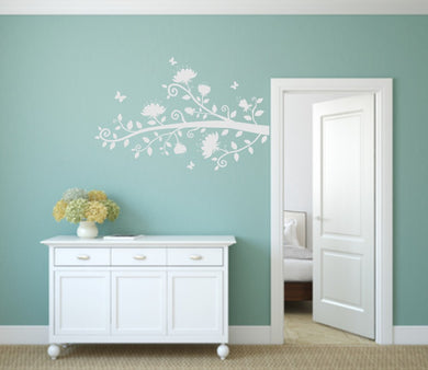 TREE BRANCH AND BUTTERFLIES Big & Small Sizes Colour Wall Sticker Shabby Chic 'Tree91'