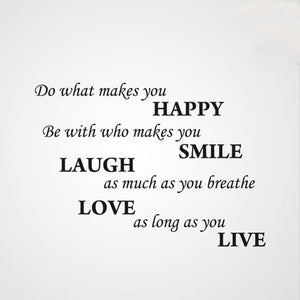 ,,DO WHAT MAKES YOU HAPPY...'' QUOTE Sizes Reusable Stencil Modern Style 'Q43'