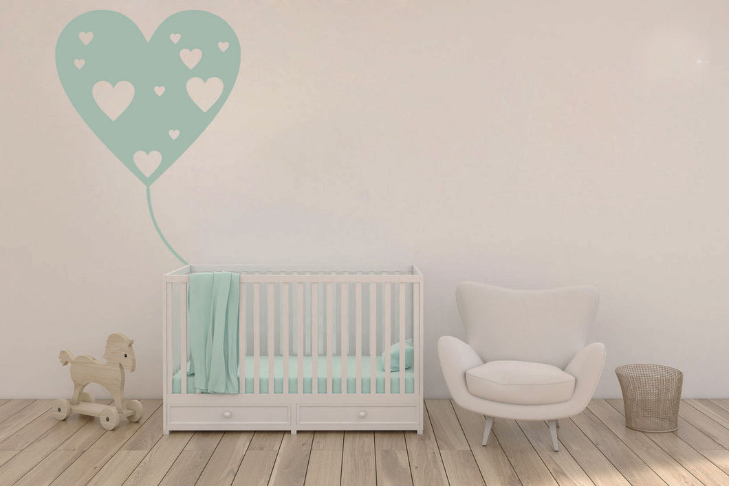 BALLOON HEARTS LOVE KIDS ROOM Sizes Reusable Stencil Happy Modern Style 'Kids10'