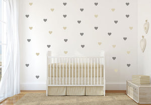SET OF HEARTS 126 PIECES KIDS ROOM Sizes Reusable Stencil Modern Style Valentine's 'Kids103'