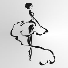 BALLERINA ARTISTIC SKETCH Sizes Reusable Stencil Kids Room Dancing Ballet 'Kids156'