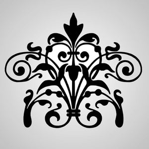 BAROQUE ORNAMENT Sizes Reusable Stencil Shabby Chic Romantic Style 'B5'