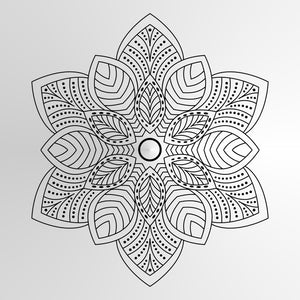 Mandala Leaves Medallion SIZES Reusable Stencil Wall Decor Bohemian Oriental / M9