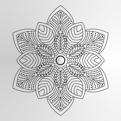 Mandala Leaves Medallion Big & Small Sizes Colour Wall Sticker Oriental Modern / M9
