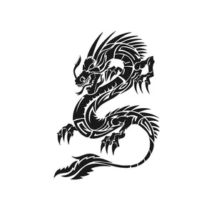 Chinese Japanese Dragon Big & Small Sizes Colour Wall Sticker Art Craft Oriental 'drag1'