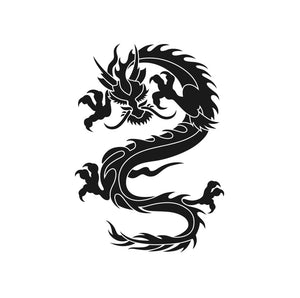 JAPANESE CHINESE DRAGON Sizes Reusable Stencil Animal Modern Oriental Style 'Drag3'