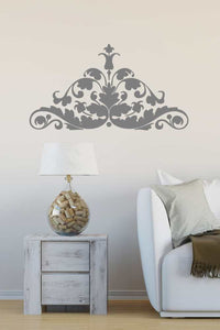 BAROQUE ORNAMENT Big & Small Sizes Colour Wall Sticker Shabby Chic Romantic Style 'B2'
