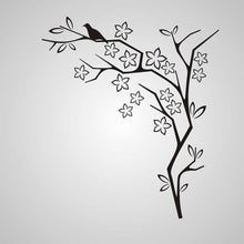 FLOWERS & BIRD CORNER ORNAMENT Sizes Reusable Stencil Orient Shabby Chic Romantic 'J54'