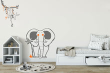 HAPPY ELEPHANT & PALM KIDS ROOM Big & Small Sizes Colour Wall Sticker Animal Modern 'Elephant'