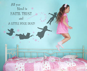 MAGIC WAND FAIRY QUOTE KIDS ROOM Various Sizes Reusable Stencil Wall Decor Kids Room'Kids13'