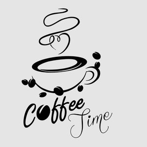 CUP OF COFFEE, 'COFFEE TIME' QUOTE Sizes Reusable Stencil Modern Style 'Cafe3'