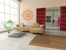 MANDALA STAR MEDALLION Big & Small Sizes Colour Wall Sticker Oriental Modern 'Mandala3'