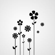 SET OF FLOWERS SKETCH Big & Small Sizes Colour Wall Sticker Shabby Chic Romantic Style 'Flora14'