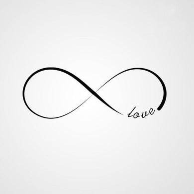 INFINITY SIGN LOVE QUOTE Sizes Reusable Stencil Modern Romantic Style 'Q12'