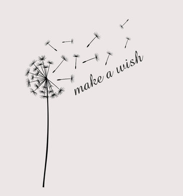 DANDELIONS ON WIND ,,MAKE A WISH'' Sizes Reusable Stencil Shabby Chic Romantic Style 'J13'