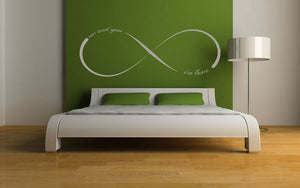 INFINITY SIGN LOVE QUOTE Sizes Reusable Stencil Modern Valentine's Romantic Style 'Q10'