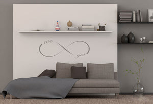 INFINITY SIGN ME and YOU QUOTE Big & Small Sizes Colour Wall Sticker Valentine's Modern Romantic Style 'Q15'