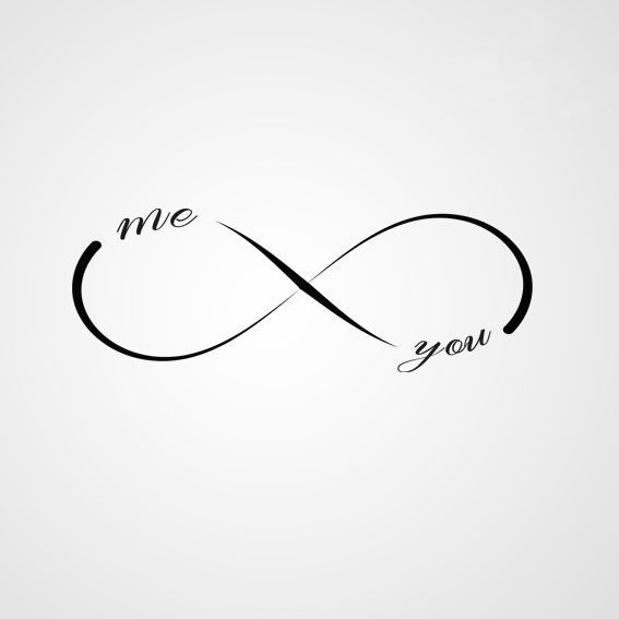 INFINITY SIGN ME and YOU QUOTE Sizes Reusable Stencil Modern Romantic Style 'Q15'