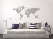 WORLD MAP Big & Small Sizes Colour Wall Sticker Travel Oriental Modern Style 'P16'