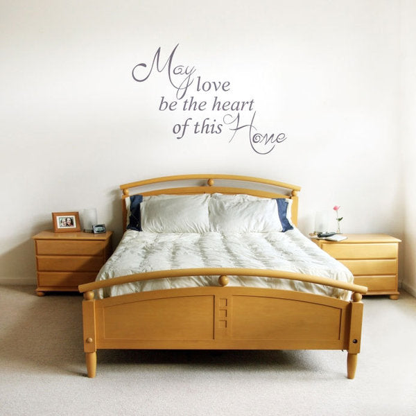 ,,MY LOVE BE THE HEART OF THIS HOME'' QUOTE Big & Small Sizes Colour Wall Sticker Modern Style 'Q37'