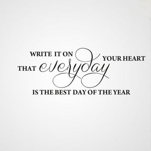 'EVERYDAY IS THE BEST DAY OF THE YEAR' QUOTE Sizes Reusable Stencil Modern 'Q41'