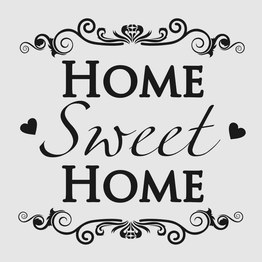 'HOME SWEET HOME' QUOTE Sizes Reusable Stencil Modern Style 'N13'