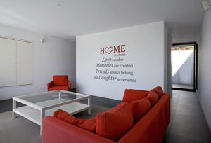 ,,HOME IS WHERE LOVE RESIDES... '' QUOTE Big & Small Sizes Colour Wall Sticker Modern Style 'Q40'