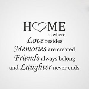 ,,HOME IS WHERE LOVE RESIDES... '' QUOTE Sizes Reusable Stencil Modern Style 'Q40'