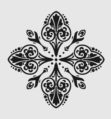 STAR BAROQUE ORNAMENT MANDALA Sizes Reusable Stencil Shabby Chic Romantic Style 'B11'