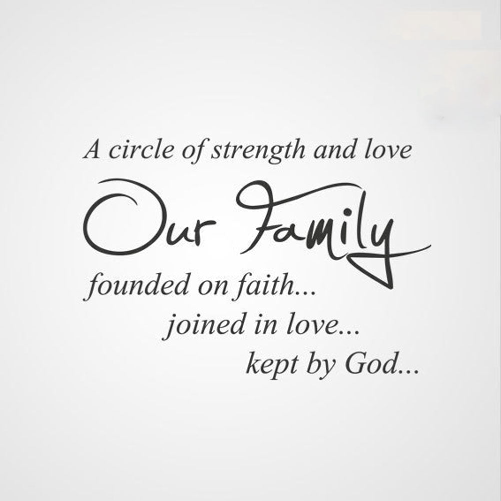 Circle Of Strength And Love Our Familyquote Sizes Reusable