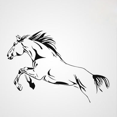 WILD RUNNING HORSE Sizes Reusable Stencil Animal Modern Style 'Kids135'