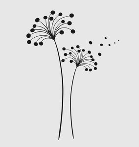 WILD FLOWER DANDELION BALLS Big & Small Sizes Colour Wall Sticker Shabby Chic Flora Style 'J16'