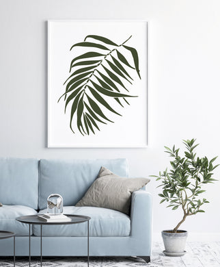 Fern Leaf Big & Small Sizes Colour Wall Sticker Floral 'leaves2'