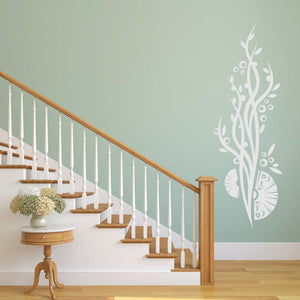 ARTISCTIC PLANT ORIENTAL FANS Big & Small Sizes Colour Wall Sticker Shabby Chic 'CH79'