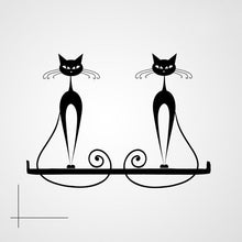 SITTING CATS ON THE SHELF Sizes Reusable Stencil Animal Modern Kids Room Style 'Kids123'