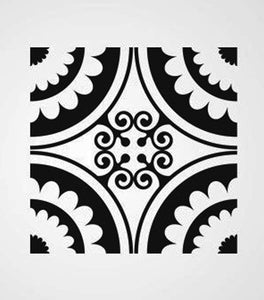 SQUARE BAROQUE PATTERN Big & Small Sizes Colour Wall Sticker Orient Ornamental Style 'B17'