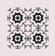 SQUARE BAROQUE PATTERN Big & Small Sizes Colour Wall Sticker Orient Ornamental Style 'B15'