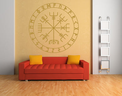 Celtic Runes Round Mandala Medallion Big & Small Sizes Colour Wall Sticker Oriental Modern / M29