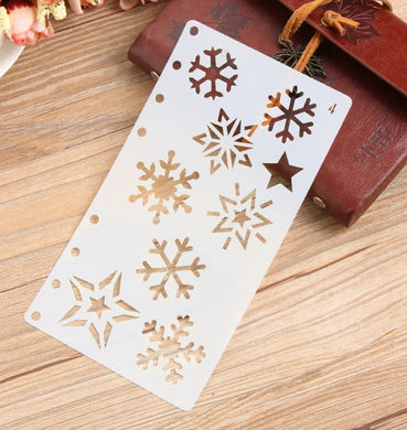 Set of Christmas Snow Flakes / Winter Cards Decoration Reusable Stencil Various Sizes / SNOW10