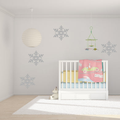 Christmas Big Snow Flake Big & Small Sizes Colour Wall Sticker Modern Decor SNOW1