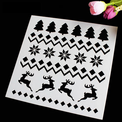 Christmas Reindeer Decor Set/ Winter Cards Decoration Reusable Stencil Various Sizes / SNOW20