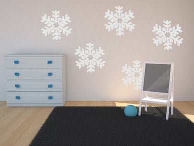 Christmas Big Snow Flake Big & Small Sizes Colour Wall Sticker Modern Decor SNOW2
