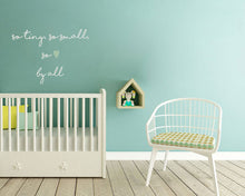 ,SO TINY SO SMALL SO BY ALL' QUOTE  Big & Small Sizes Colour Wall Sticker Modern Kids Room 'Kids105'