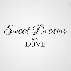 ,,SWEET DREAMS MY LOVE'' QUOTE Sizes Reusable Stencil Modern Style 'Q32'