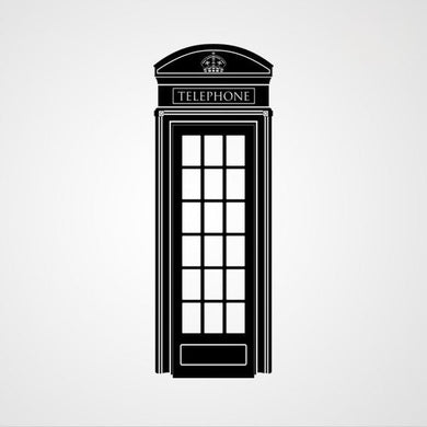 RED TELEPHONE BOX LONDON ENGLAND SYMBOL Sizes Reusable Stencil Travel Style 'Modern2'