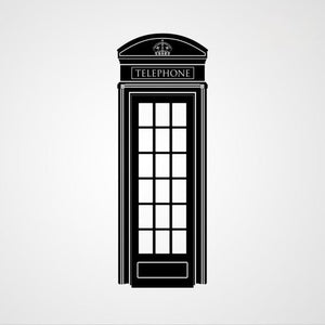RED TELEPHONE BOX LONDON ENGLAND SYMBOL Big & Small Colour Wall Sticker Travel Modern 'Modern2'