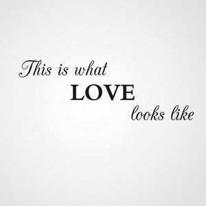 ,,THIS IS WHAT LOVE LOOKS LIKE '' QUOTE Sizes Reusable Stencil Valentine's Modern Style 'Q60'