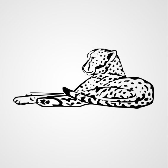LEOPARD KIDS ROOM Big & Small Sizes Colour Wall Sticker Animal Modern Style 'Kids139'